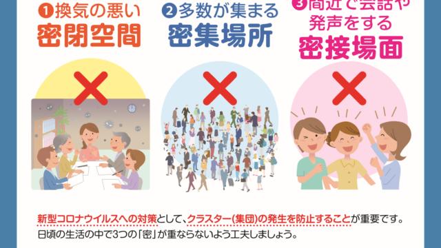 新型コロナウィルス予防対策について